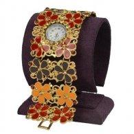 מתנה לכלה : שעון תחרה צבעי אדמה