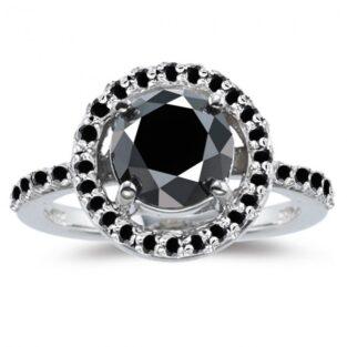 תכשיט ערב: טבעת כסף 925 בשיבוץ אבני מואסנייט 3.57 קרט מידה 7