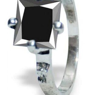 לכלה ולערב: טבעת כסף 925 בשיבוץ יהלומי גלם ומואסנייט 3.01 קרט מידה: 6.5