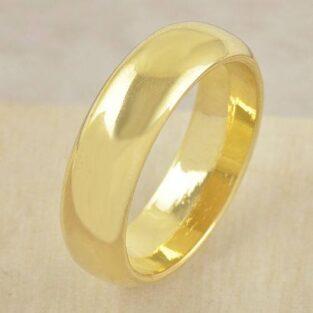 טבעת נישואים 18 קרט גולדפילד מידה: 8