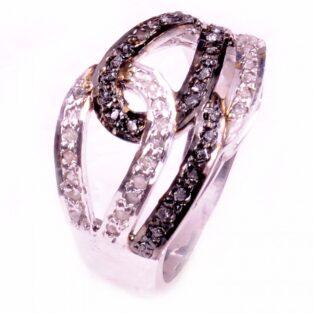 לכלה ולערב: טבעת כסף 925 בשיבוץ יהלומי גלם הטבעת: 1.00 קרט מידה: .7.5