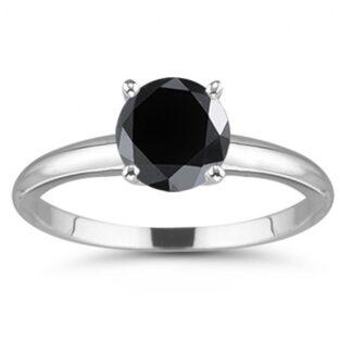 תכשיט ערב: טבעת כסף בשיבוץ מואסניט שחור מידה: 7