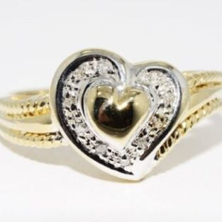 תכשיט זהב לכלה: טבעת זהב בשיבוץ 10 יהלומים מידה: 7.25