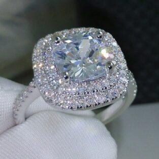 תכשיט לכלה ולערב: טבעת כסף 925 בשיבוץ טופז מידה: 7