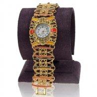 מתנה לכלה : שעון תכשיט לאישה דמוי תחרה