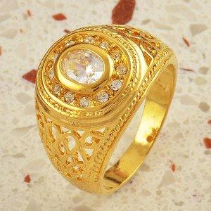 מתנה לחתן טבעת גולדפילד משובצת קריסטלים