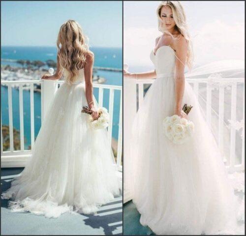 שמלת כלה לבנה בהזמנה דגם יסמין