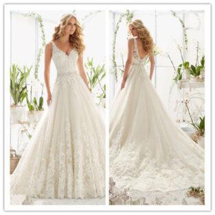 שמלת כלה בהזמנה דגם ורדית