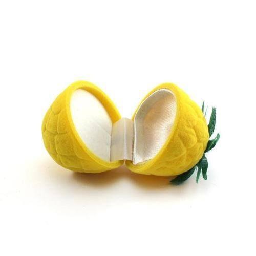קופסת תכשיטים אריזה לטבעת דמוי לימון