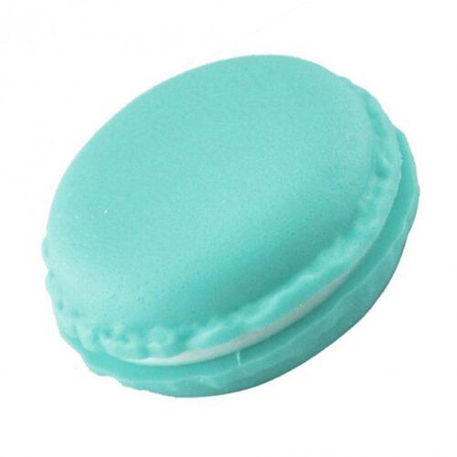 קופסת תכשיטים: אריזה לטבעת עיצוב עוגיית מקרון ירוק