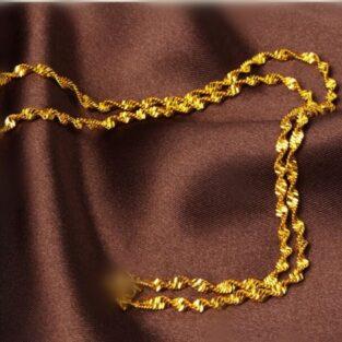 לחינה ומסיבת רווקות: שרשרת גולדפילד 18 קרט עיצוב סליל