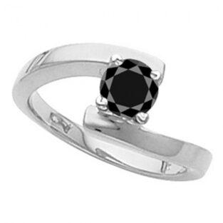 תכשיט ערב: טבעת כסף בשיבוץ מואסנייט מידה: 7