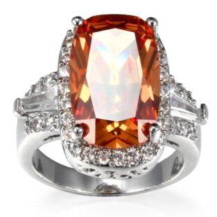 תכשיט לחינה ומסיבת רווקות: טבעת מוכסף בשיבוץ טופז מידה 6 \ ומידה 8