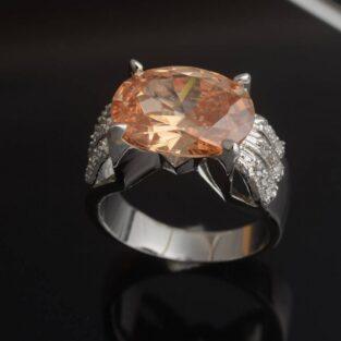 תכשיט לכלה ולערב: טבעת בשיבוץ טופז מידה: 6