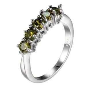תכשיט לכלה ולערב: טבעת בשיבוץ אבני פרידות מידה: 6
