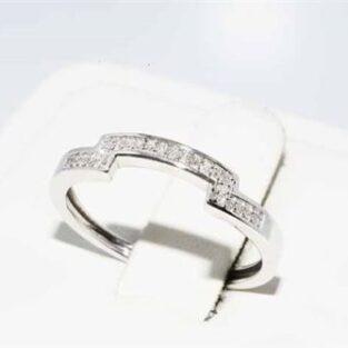 תכשיט לכלה ולערב: טבעת זהב לבן בשיבוץ 24 יהלומים מידה: 7.25